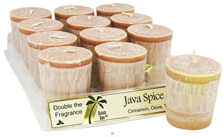 DROPPED: Aloha Bay - Palm Votive Candle Java Spice - 2 oz. CLEARANCE PRICED