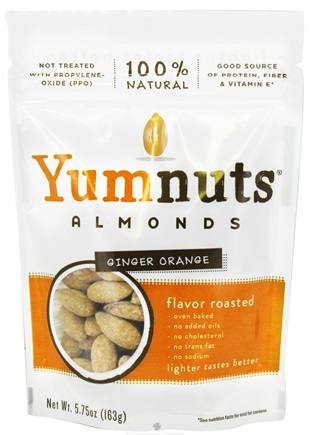 DROPPED: Yumnuts Naturals - Almonds Ginger Orange - 5.75 oz. CLEARANCE PRICED
