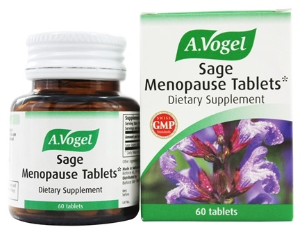 DROPPED: A.Vogel - Sage Menopause Tablets 15 mg. - 60 Tablets