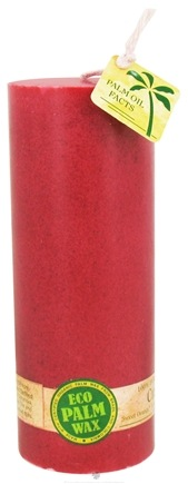 "DROPPED: Aloha Bay - Eco Palm Wax Pillar Candle 2.25"" x 6"" Cranberry - CLEARANCE PRICED"
