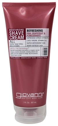 DROPPED: Giovanni - Moisturizing Shave Cream Refreshing Pink Grapefruit & Pomegranate - 7 oz.