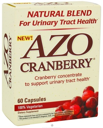 DROPPED: Azo - Cranberry Natural Blend For Urinary Tract Health - 60 Capsules