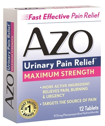 DROPPED: Azo - Urinary Pain Relief Maximum Strength - 12 Tablets