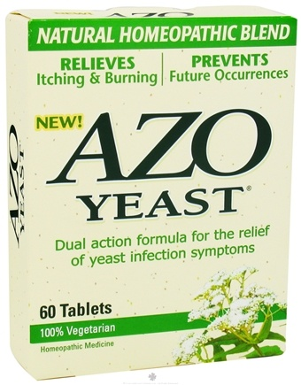 DROPPED: Azo - Yeast Natural Homeopathic Blend - 60 Tablets