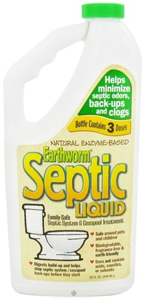 DROPPED: Earthworm - Family Safe Septic System Treatment and Cesspool Cleaner - 32 oz.
