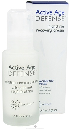 DROPPED: Earth Science - Age Defense Nighttime Recovery Cream with Beta-Ginseng Complex - 1.7 oz.