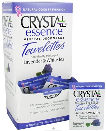 DROPPED: Crystal Body Deodorant - Crystal Essence Mineral Deodorant Towelette Lavender & White Tea - 0.1 oz. CLEARANCE PRICED