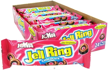 DROPPED: Joyva - Jell Rings Chocolate Covered 3 Rings - 1.35 oz. CLEARANCE PRICED