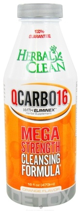 DROPPED: BNG Enterprises - Herbal Clean QCarbo16 with Eliminex Mega Strength Cleansing Formula Orange Flavor - 16 oz.