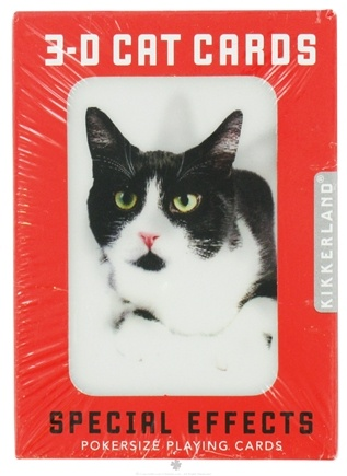 Zoom View - Playing Cards Cats 3-D