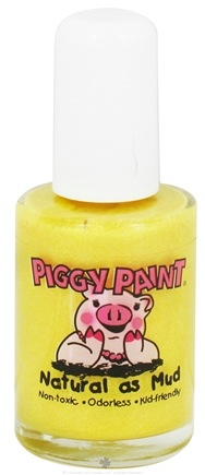 DROPPED: Piggy Paint - Nail Polish Dandelion Dance Cheery Shimmery Yellow - 0.5 oz. CLEARANCE PRICED