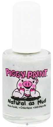 DROPPED: Piggy Paint - Nail Polish Twinkle Toes Sparkly Silver - 0.5 oz. CLEARANCE PRICED