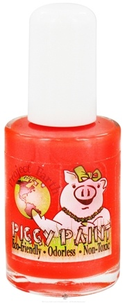 DROPPED: Piggy Paint - Nail Polish Project Earth Drama Neon Red-Orange - 0.5 oz. CLEARANCE PRICED