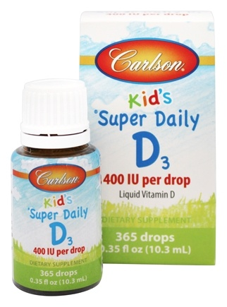 Carlson Labs - Kid's Super Daily D3 Liquid Vitamin D 400 IU - 0.35 oz.