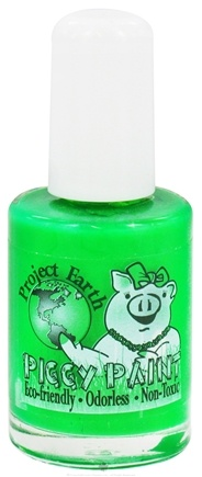 DROPPED: Piggy Paint - Nail Polish Project Earth Eat Your Peace Neon Green - 0.5 oz. CLEARANCE PRICED