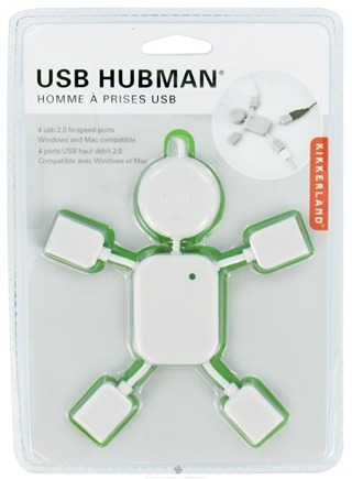 DROPPED: Kikkerland - USB Hubman 4 usb 2.0 Hi-Speed Ports