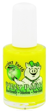 DROPPED: Piggy Paint - Nail Polish Project Earth Solar Power Neon Yellow - 0.5 oz. CLEARANCE PRICED
