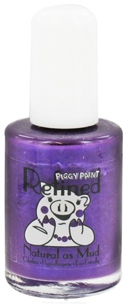 DROPPED: Piggy Paint - Nail Polish Refined Midnight Pansy Deep Dark Purple - 0.5 oz. CLEARANCE PRICED