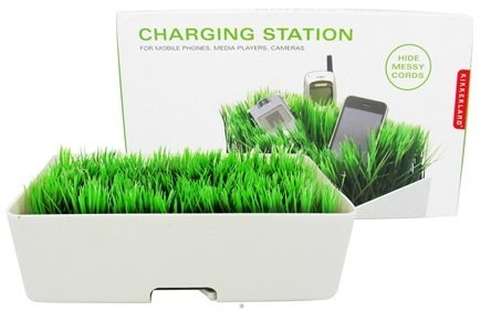 DROPPED: Kikkerland - Grass Charging Station White - CLEARANCE PRICED