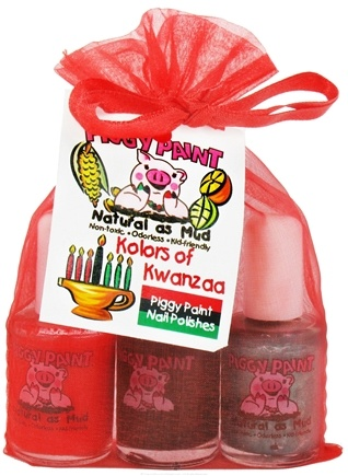 DROPPED: Piggy Paint - Nail Polish Gift Set Kolors of Kwanzaa - 3 Piece(s) CLEARANCE PRICED