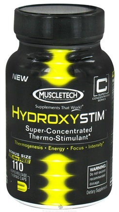 DROPPED: Muscletech Products - HydroxyStim Bonus Size - 110 Capsules CLEARANCE PRICED