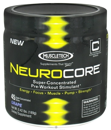 Zoom View - NeuroCore Super-Concentrated Pre-Workout Stimulant 45 Servings