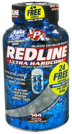 DROPPED: VPX - Redline Ultra Hardcore Black on Blue Series Bonus Size - 144 Capsules