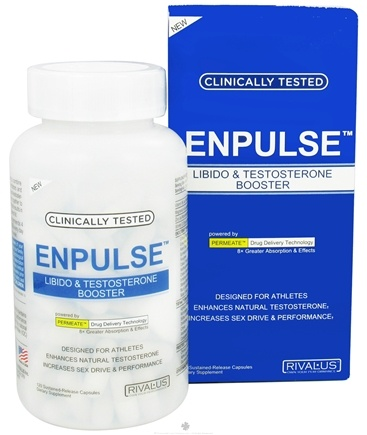 DROPPED: Rivalus - Enpulse Libido & Testosterone Booster - 120 Capsules CLEARANCE PRICED