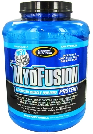 DROPPED: Gaspari Nutrition - Myofusion Advanced Muscle Building Protein Delicious Vanilla - 5 lbs. CLEARANCE PRICED