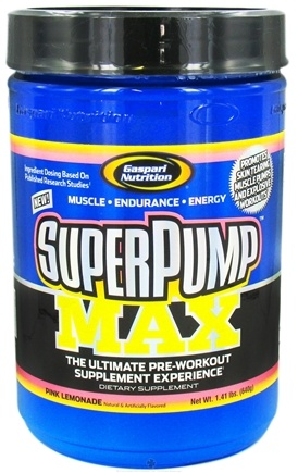 DROPPED: Gaspari Nutrition - SuperPump MAX Pre Workout Formula Pink Lemonade - 1.41 lbs. CLEARANCE PRICED