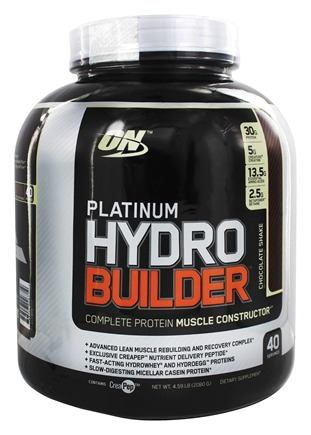 DROPPED: Optimum Nutrition - Platinum Hydrobuilder Chocolate Shake 40 Servings - 4.59 lbs.