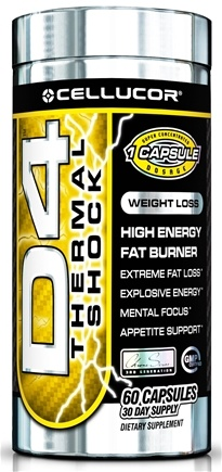 DROPPED: Cellucor - D4 Thermal Shock High Energy Fat Burner - 60 Capsules