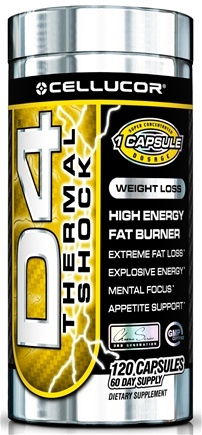 DROPPED: Cellucor - D4 Thermal Shock High Energy Fat Burner - 120 Capsules