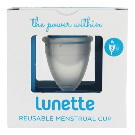 DROPPED: Lunette - Menstrual Cup Model 2 For Normal To Heavy Flow Clear - CLEARANCE PRICED