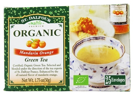 DROPPED: St. Dalfour - Green Tea Premium Organic Mandarin Orange - 25 Tea Bags
