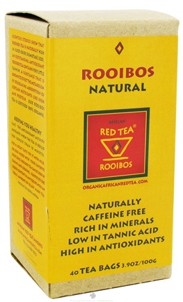 DROPPED: African Red Tea Imports - Rooibos Red Tea Natural - 40 Tea Bags