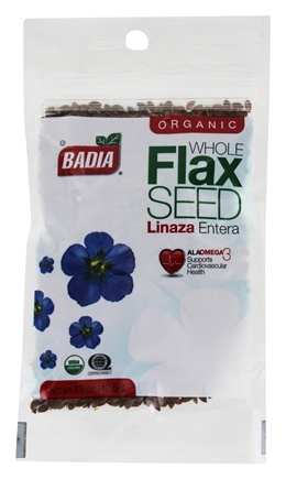 DROPPED: Badia - Organic Whole Flax Seed - 1.5 oz. CLEARANCE PRICED