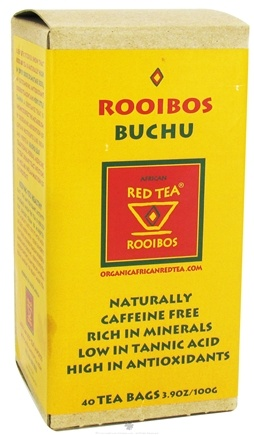 DROPPED: African Red Tea Imports - Rooibos Buchu Red Tea - 40 Tea Bags