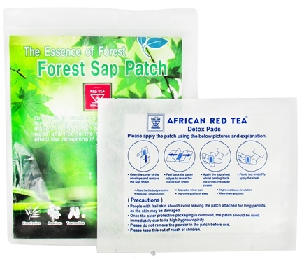 DROPPED: African Red Tea Imports - Detox Foot Pads - 10 Pack