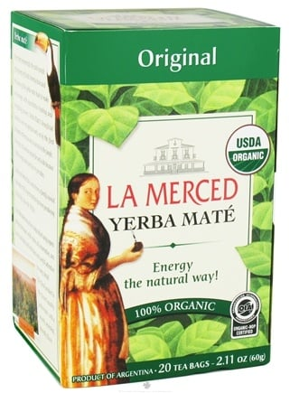 DROPPED: La Merced - Yerba Mate 100% Organic Original - 20 Tea Bags