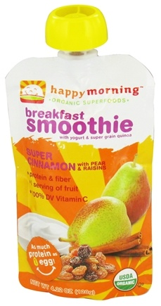 DROPPED: HappyFamily - HappyMorning Organic Superfruit + Supergrain Breakfast Smoothie Super Cinnamon - 4.22 oz. CLEARANCE PRICED