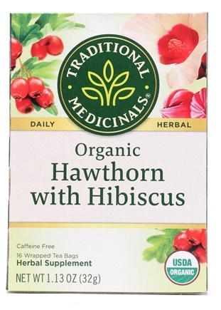 Organic Hawthorn With Hibiscus Herbal Tea 16 Bags Formerly Heart Traditional Medicinals