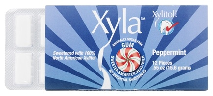 DROPPED: Xylitol USA - Xyla Naturally Sugar Free Gum Peppermint - 12 Piece(s)