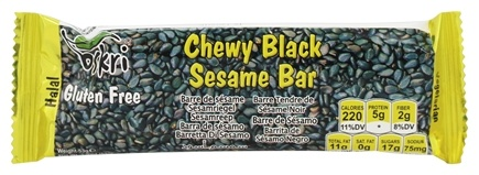 DROPPED: Oskri - Gluten-Free Sesame Bar Chewy Black - 1.9 oz.