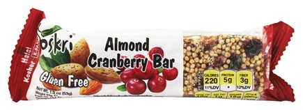 Oskri - Gluten-Free Almond Bar Cranberry - 1.9 oz.
