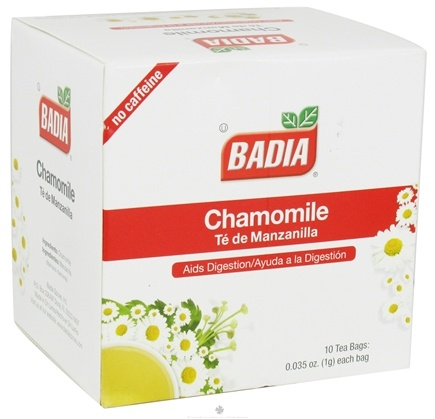 DROPPED: Badia - Chamomile Tea - 10 Tea Bags CLEARANCE PRICED