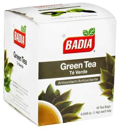 DROPPED: Badia - Green Tea - 10 Tea Bags CLEARANCE PRICED