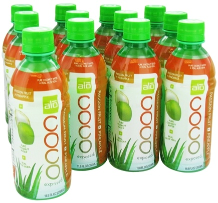 DROPPED: ALO - Coco Exposed Pure Coconut Water + Real Aloe Vera Passion Fruit + Pineapple - 11.8 oz.