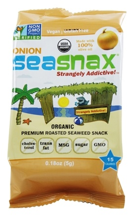 SeaSnax - Lightly Roasted and Seasoned Seaweed Grab & Go Pack Toasty Onion - 0.21 oz.