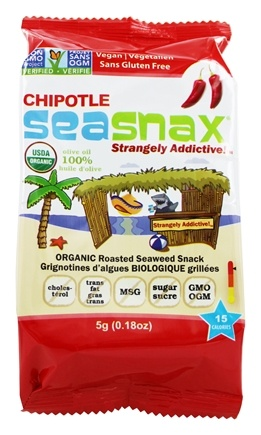 SeaSnax - Premium Seasoned Seaweed Snack Grab & Go Spicy Chipotle - 0.18 oz.